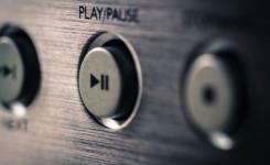 play/pause knop