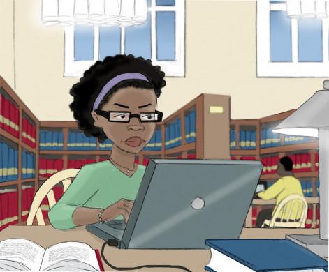 Studeren in de bib