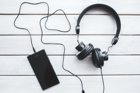 hoofdtelefoon en gsm